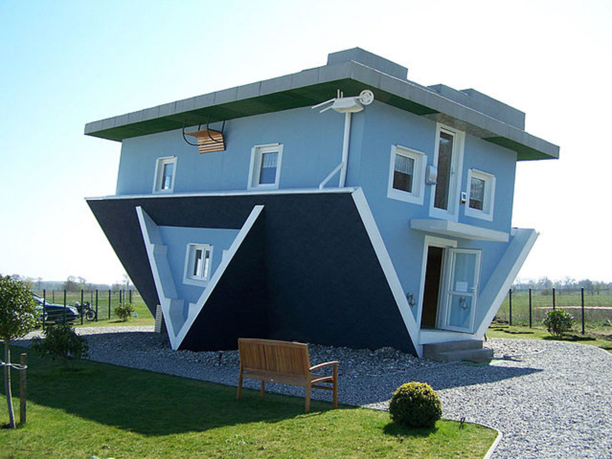 The Upside-Down House in Trassenheide, Germany