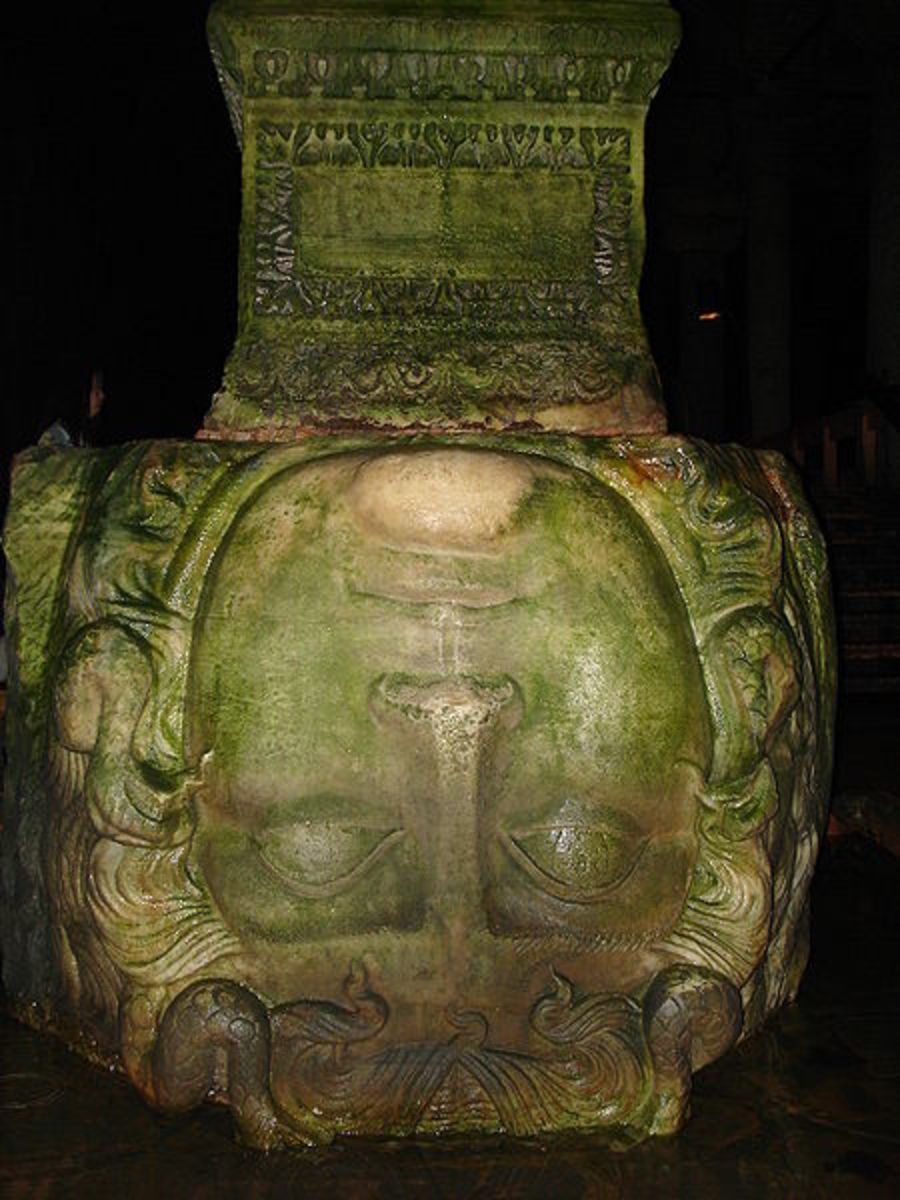 Gorgoneion in the Basilica Cistern, Istanbul