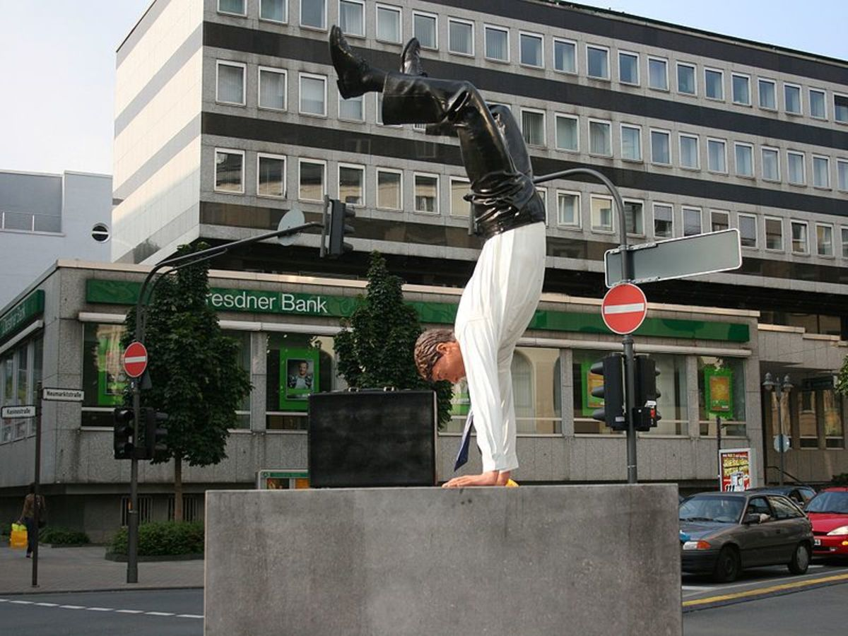 Sculpture in Wuppertal-Elberfeld, Germany