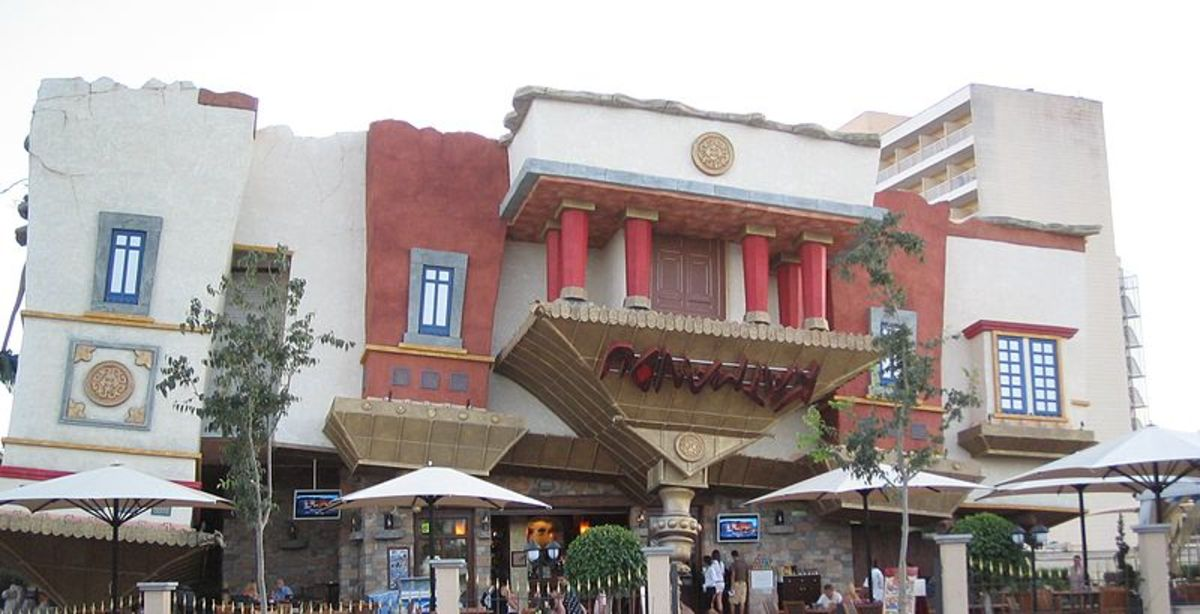 A museum called The house of katmandu, builded upside down in the spanish resort Magalluf in Mallorca.
