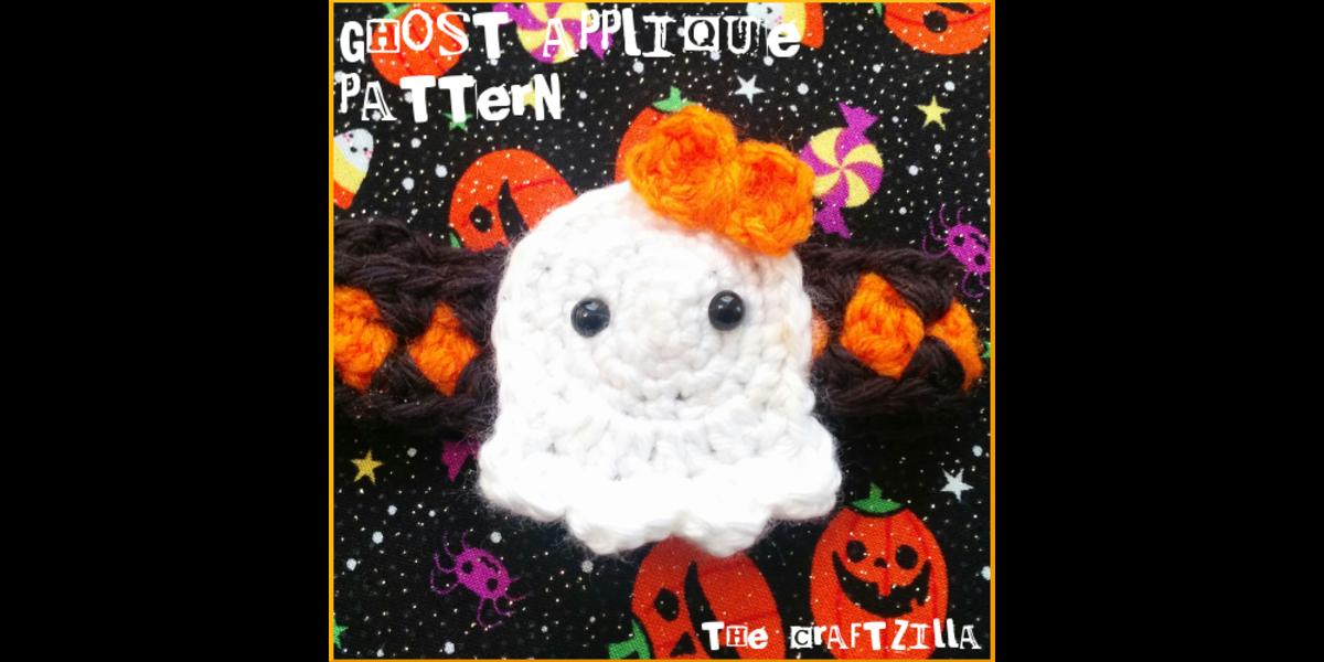 Free crochet pattern amigurumi Halloween ghosts.