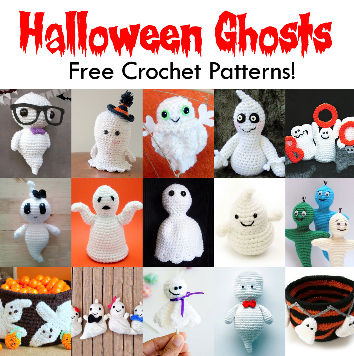 Free Crochet Patterns Halloween : Free Halloween Ghost Crochet Patterns HubPages