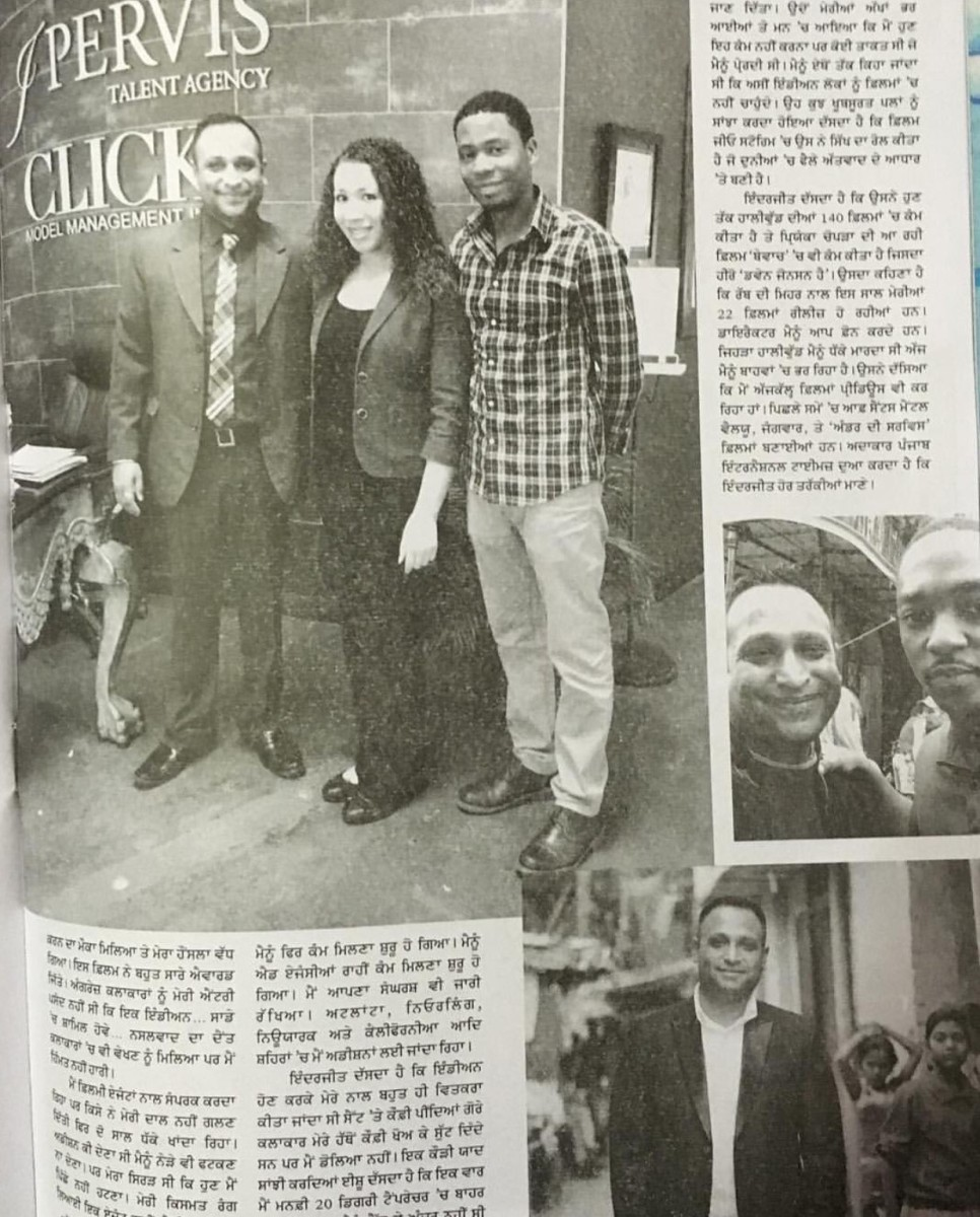 Tay with Inder Kumar and co-agent Chrsti Holliday as they were honored in Indian News publication.