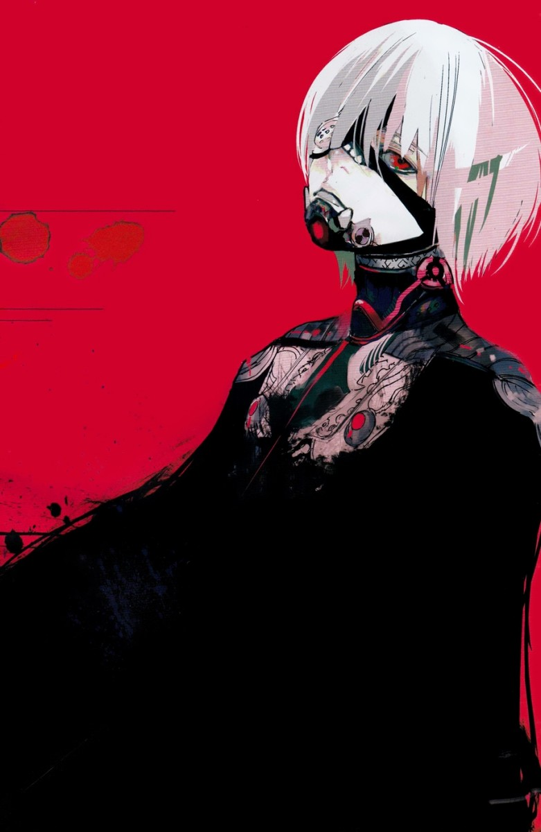Kaneki as the One-Eyed King in chapter 100 of Tokyo Ghoul:re.