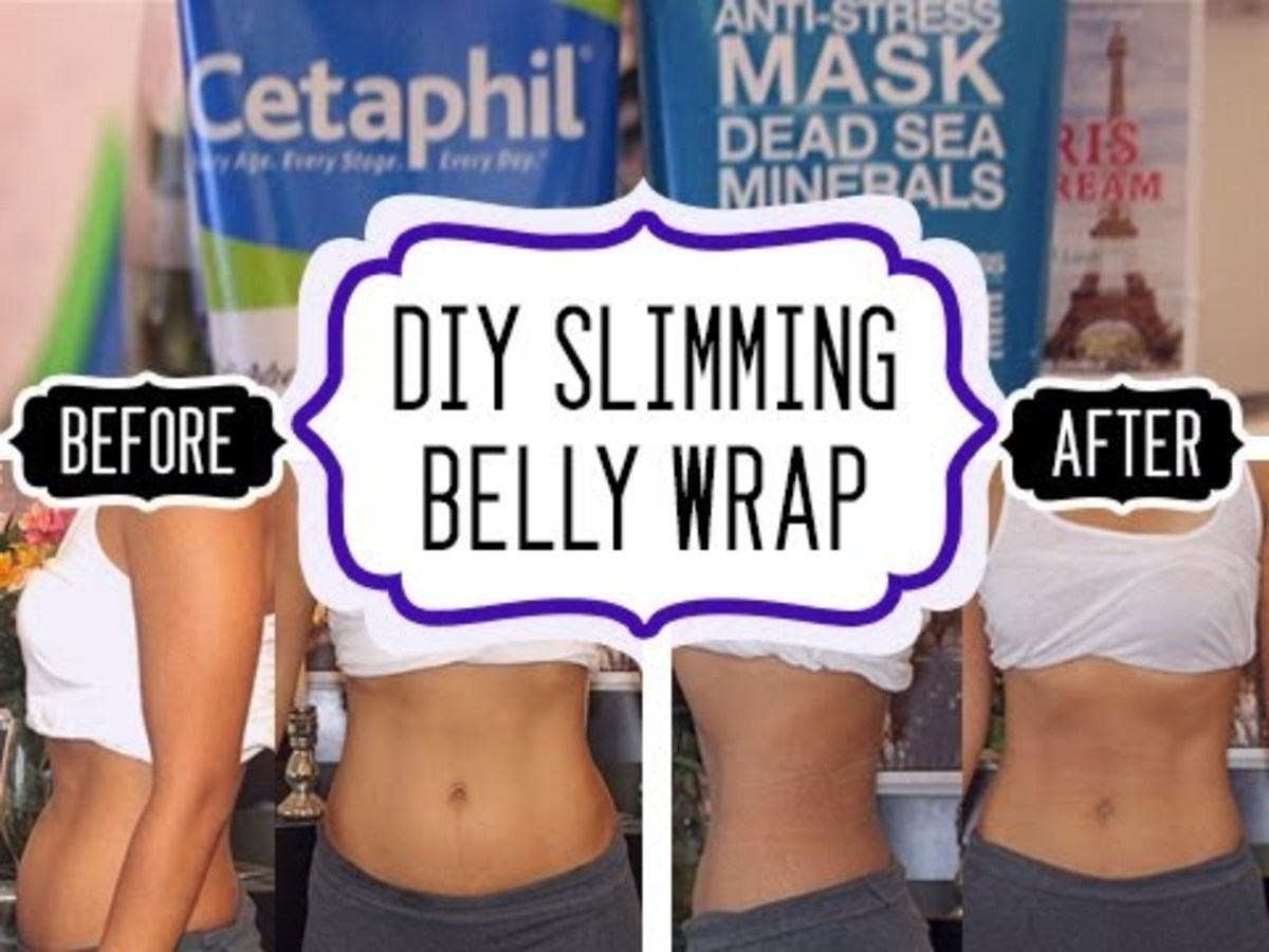 DIY SLIMMING WRAP USING Cetaphil Lotion and  Dead Sea Minerals Face Mask