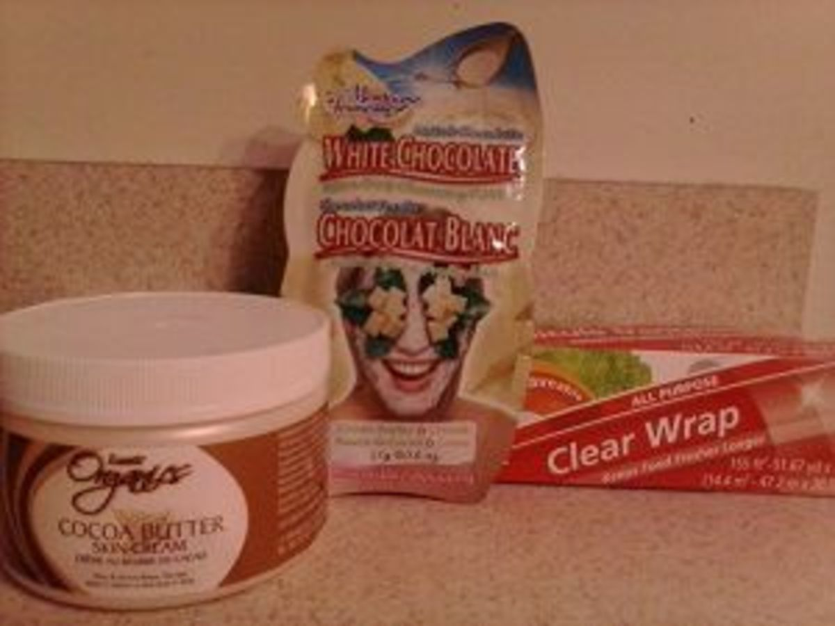 DIY Wrap using White Chocolate face mask and Cocoa Butter