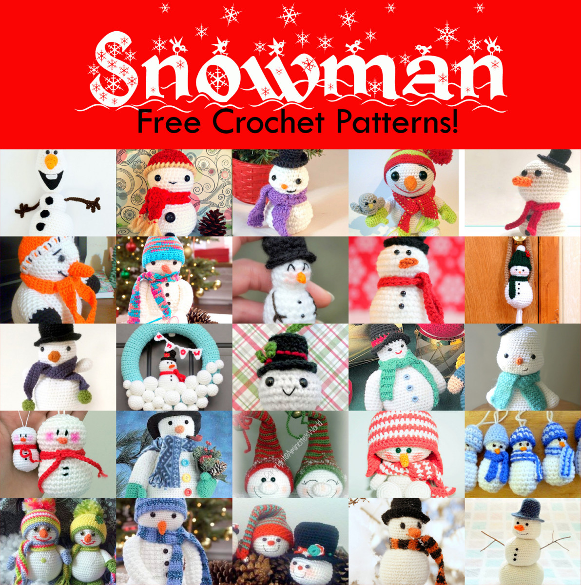 25 Free Amigurumi Snowman Crochet Patterns