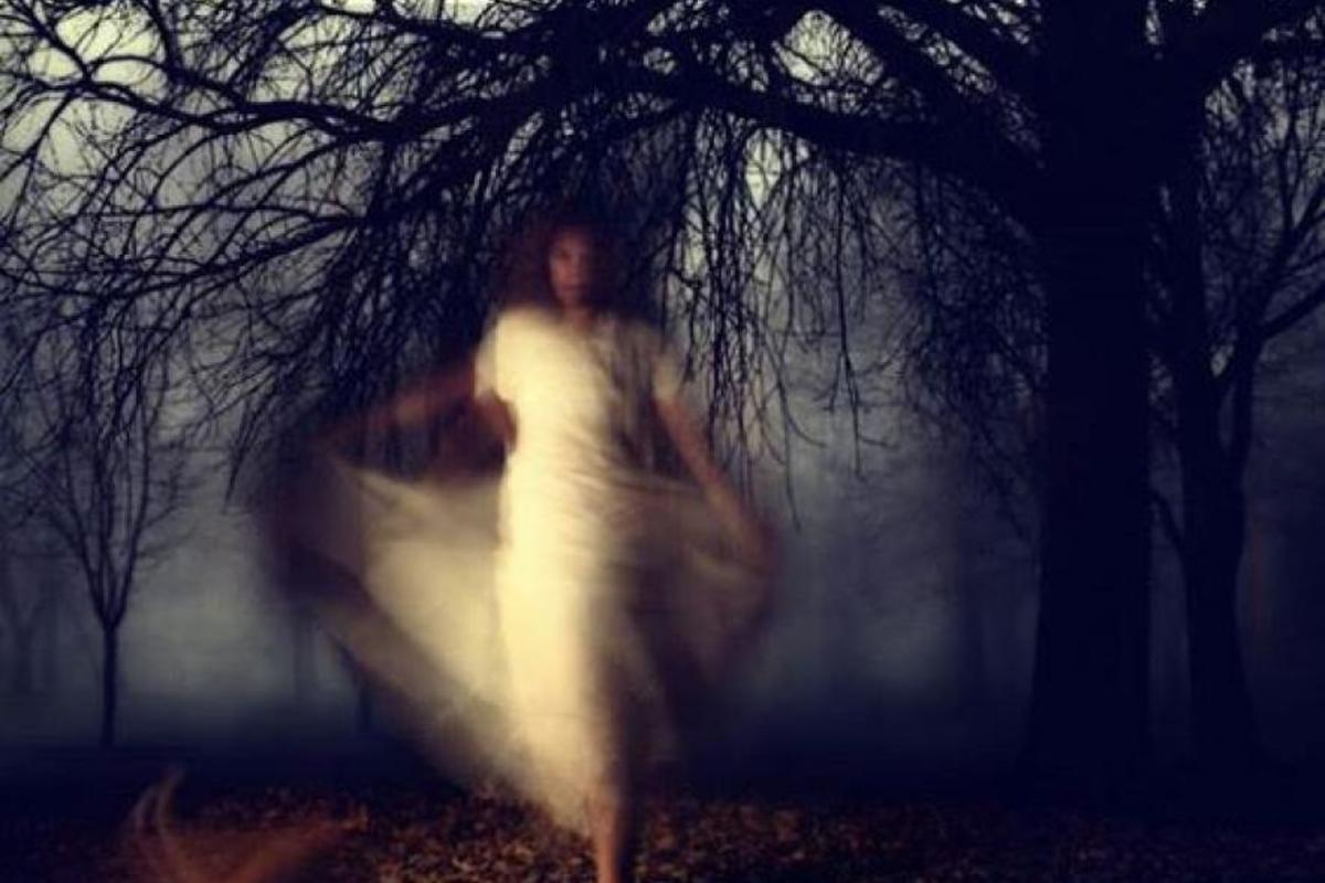ghost woman in woods