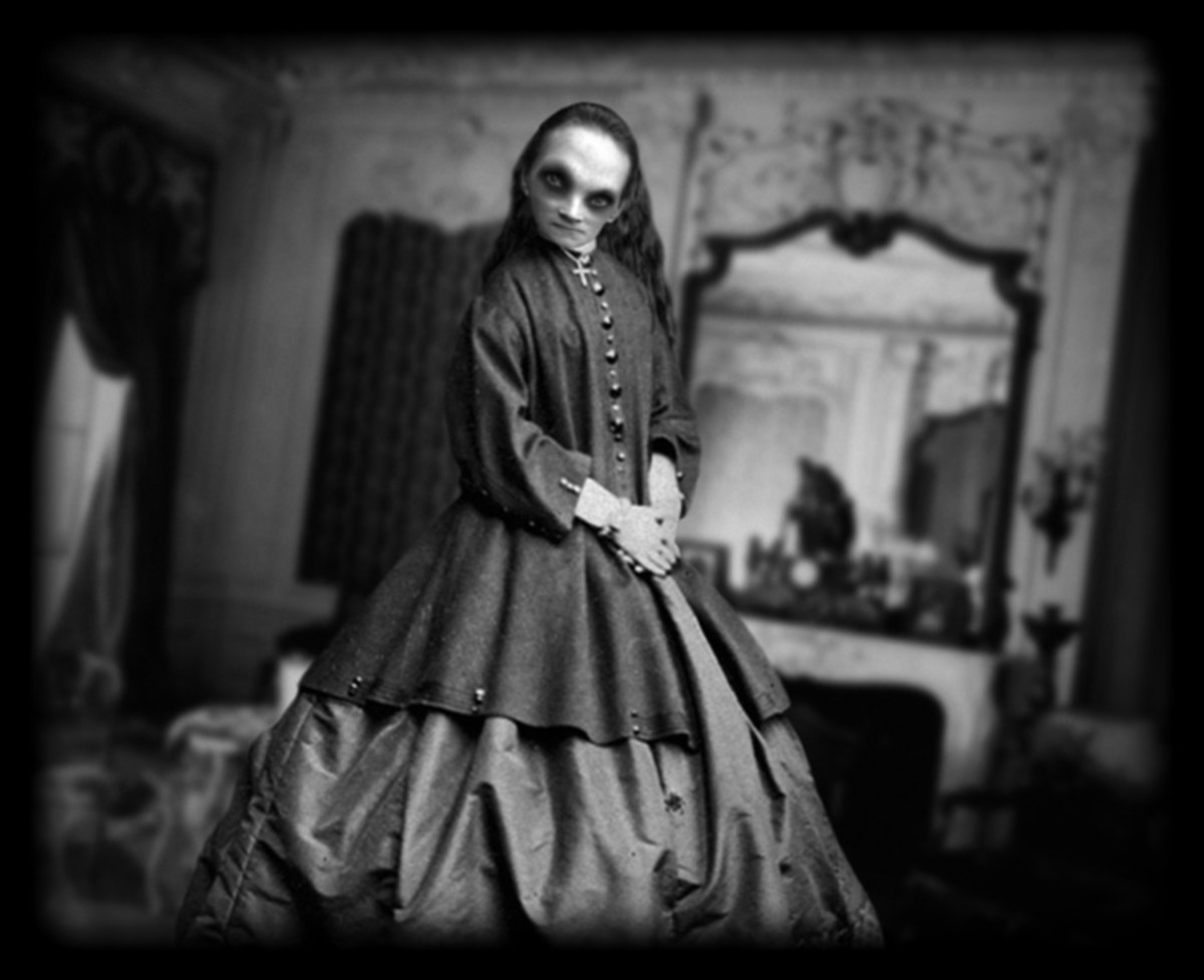 Sometimes a spooky Victorian lady comes calling!