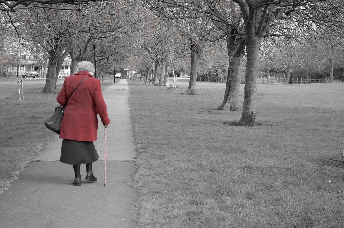 Ghost elderly woman