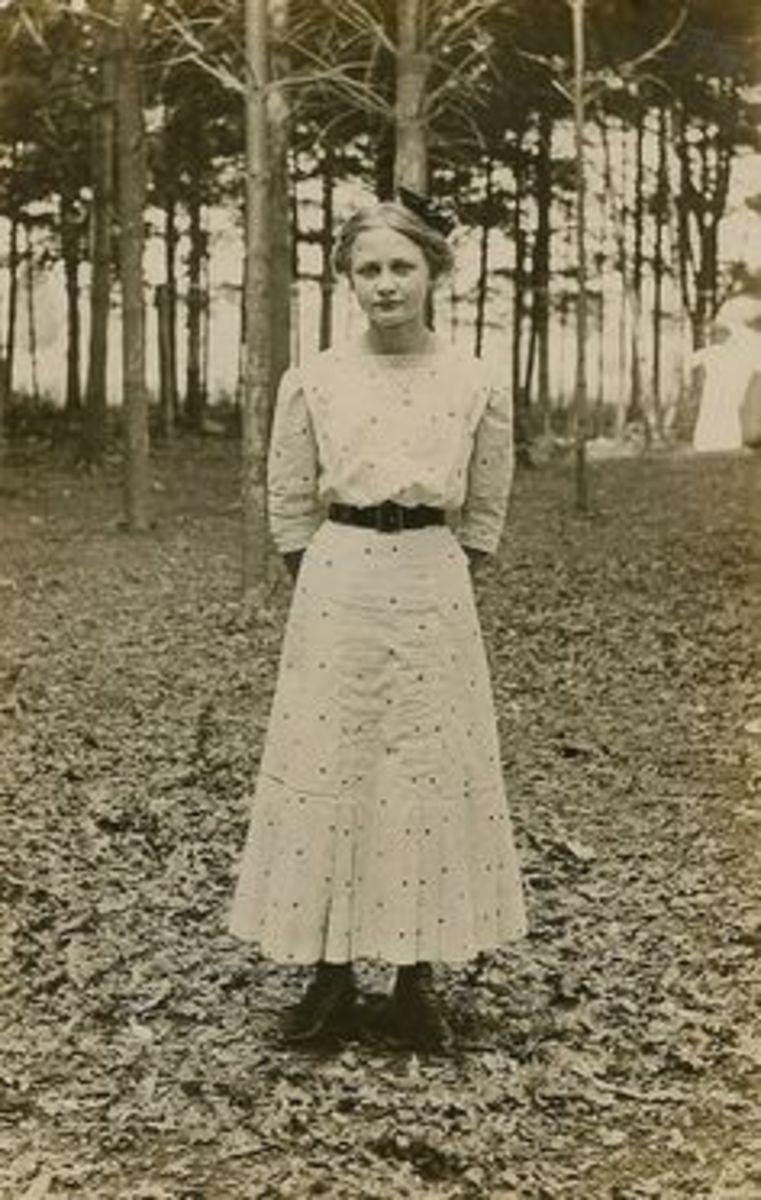 Girl in woods ghost
