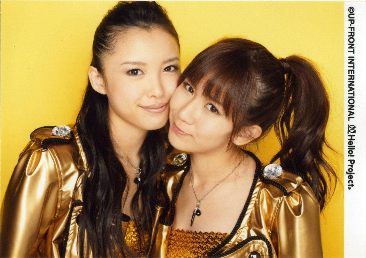 With Chisato Okai (right).
