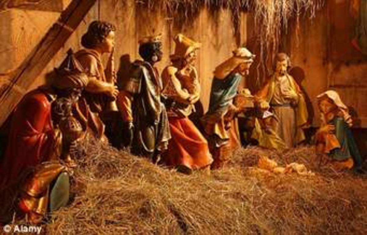 The magi were three wise men and they brought gift fit for a king. They brought, gold, frankincense and myrrh