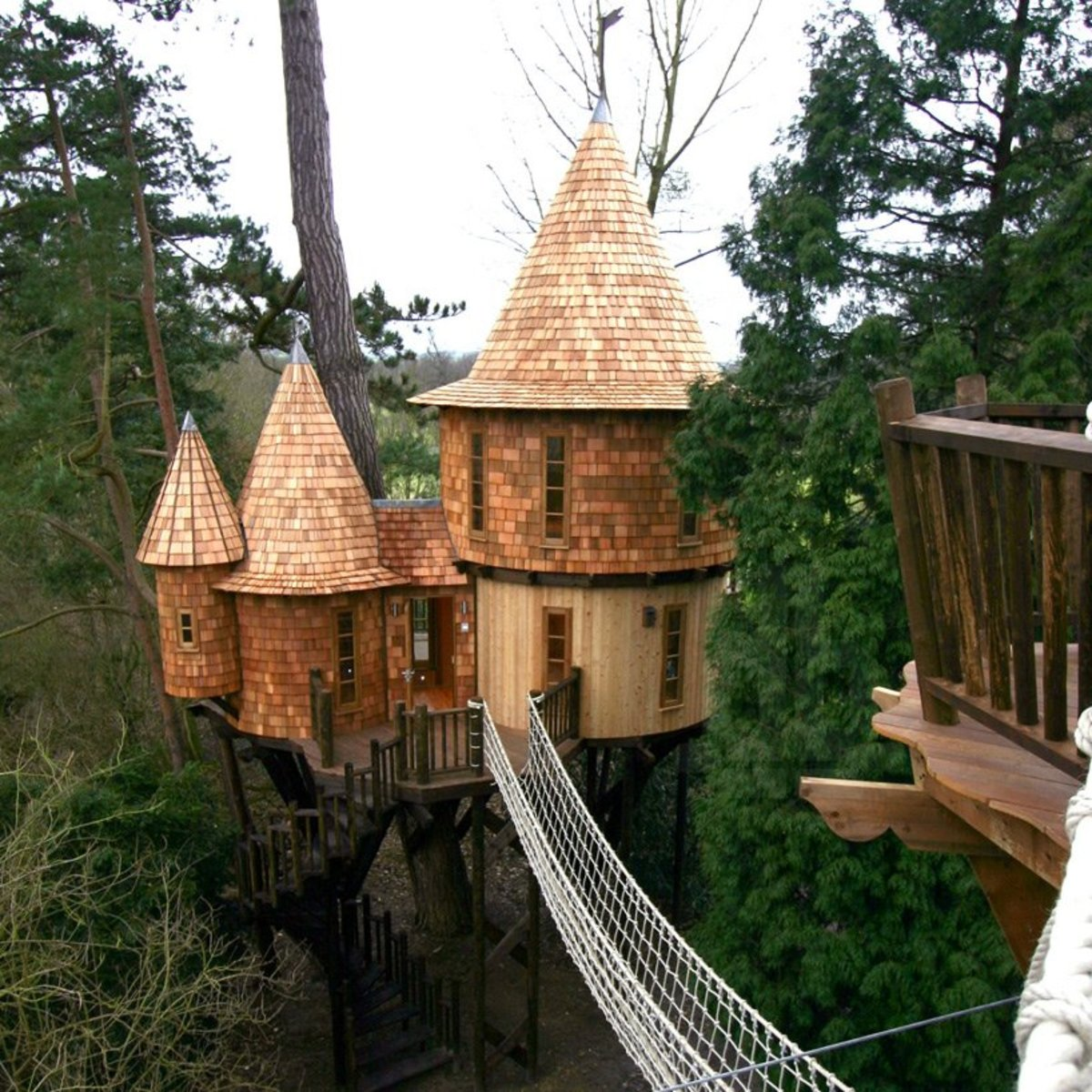 Castle style treehouse