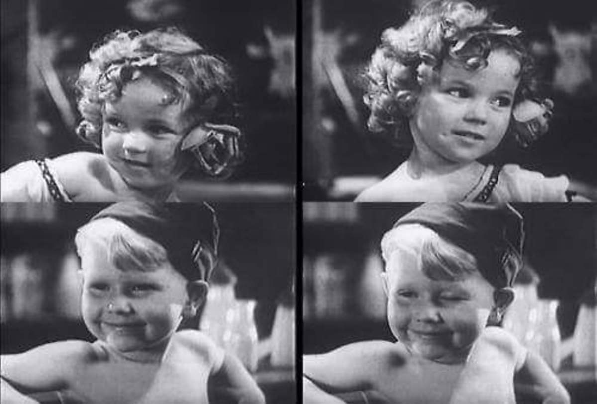 Shirley Temple and co-star in War Babies.