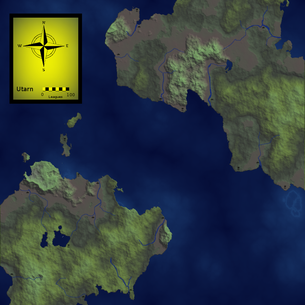Creating Fantasy Maps for D&D with GIMP 2.8 (2.10.12)