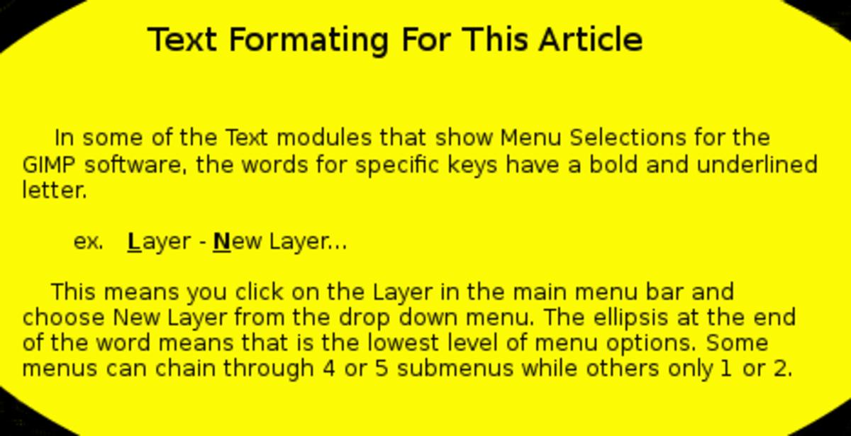 Text Formating Warning