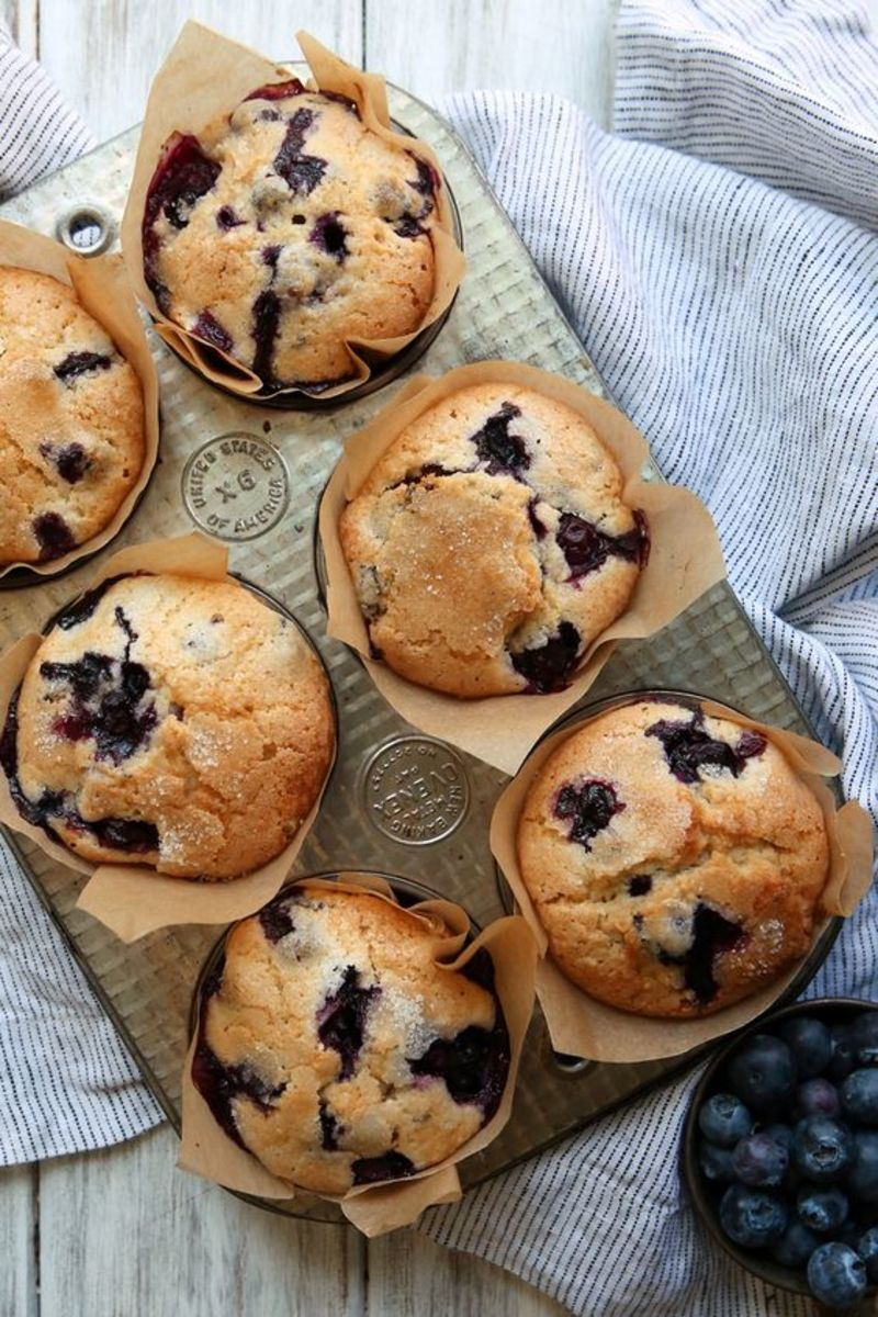 Wonderfully Delicious Blueberry Muffins