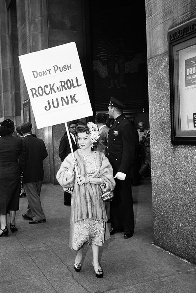 There can be a resemblance of motive between parent's protesting rock music, and progressives boycotting comedies. Both felt fundamental values were at stake and a danger to their society.