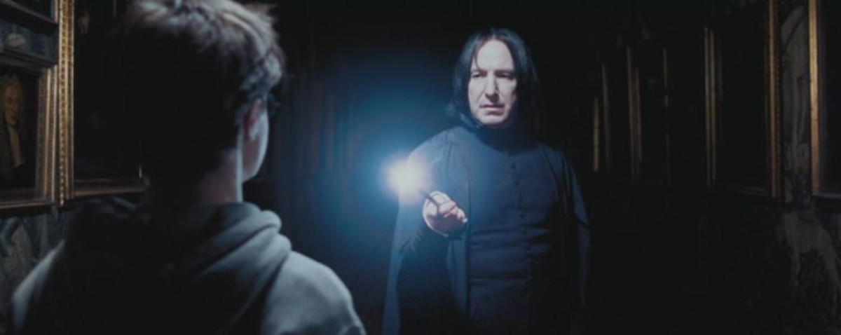 Snape caught Harry wandering in the night in Harry Potter and the Prisoner of Azkaban