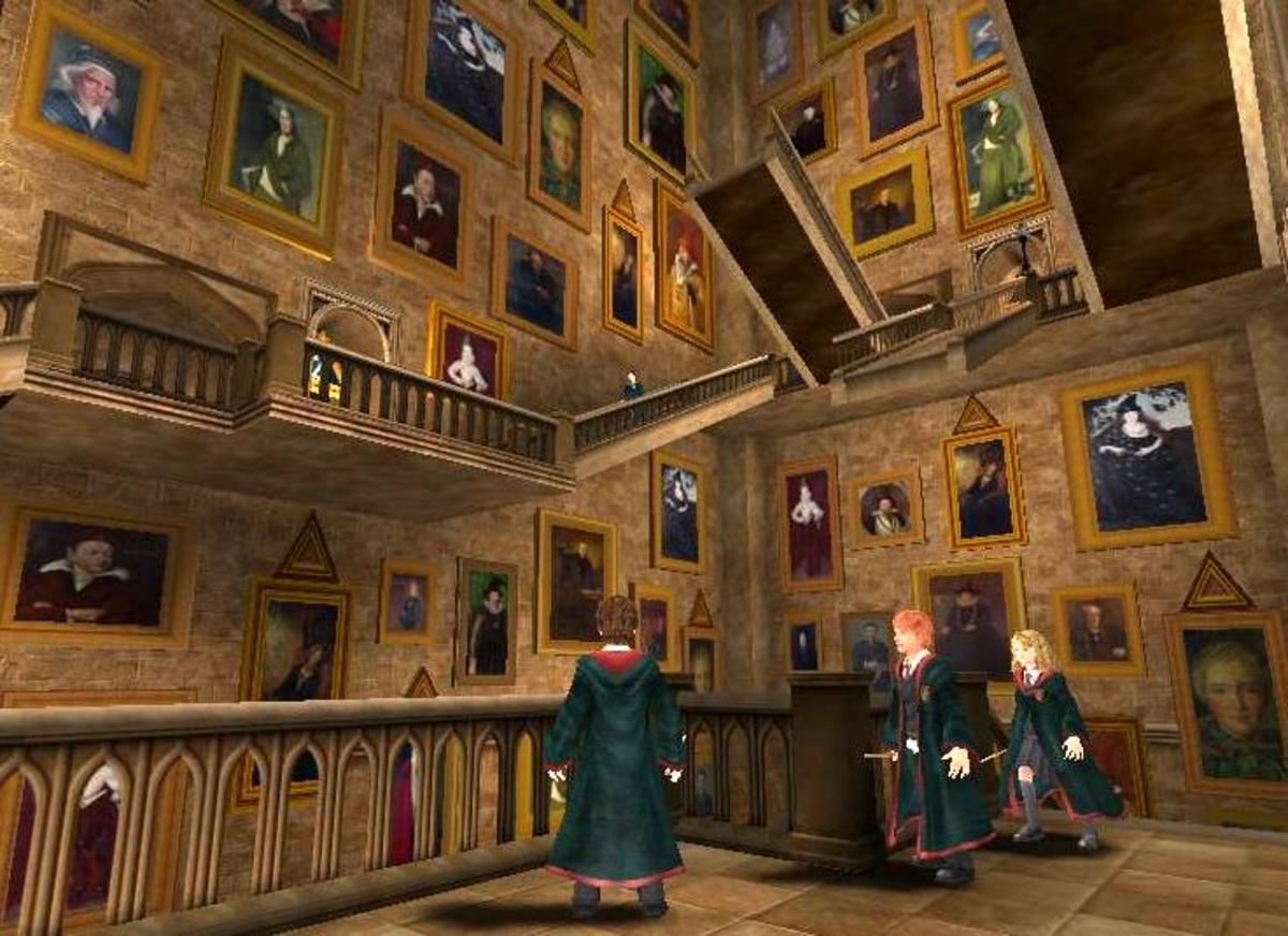 Remember, every one of them can hear you. Image from video game Harry Potter of the Prisoner of Azkaban