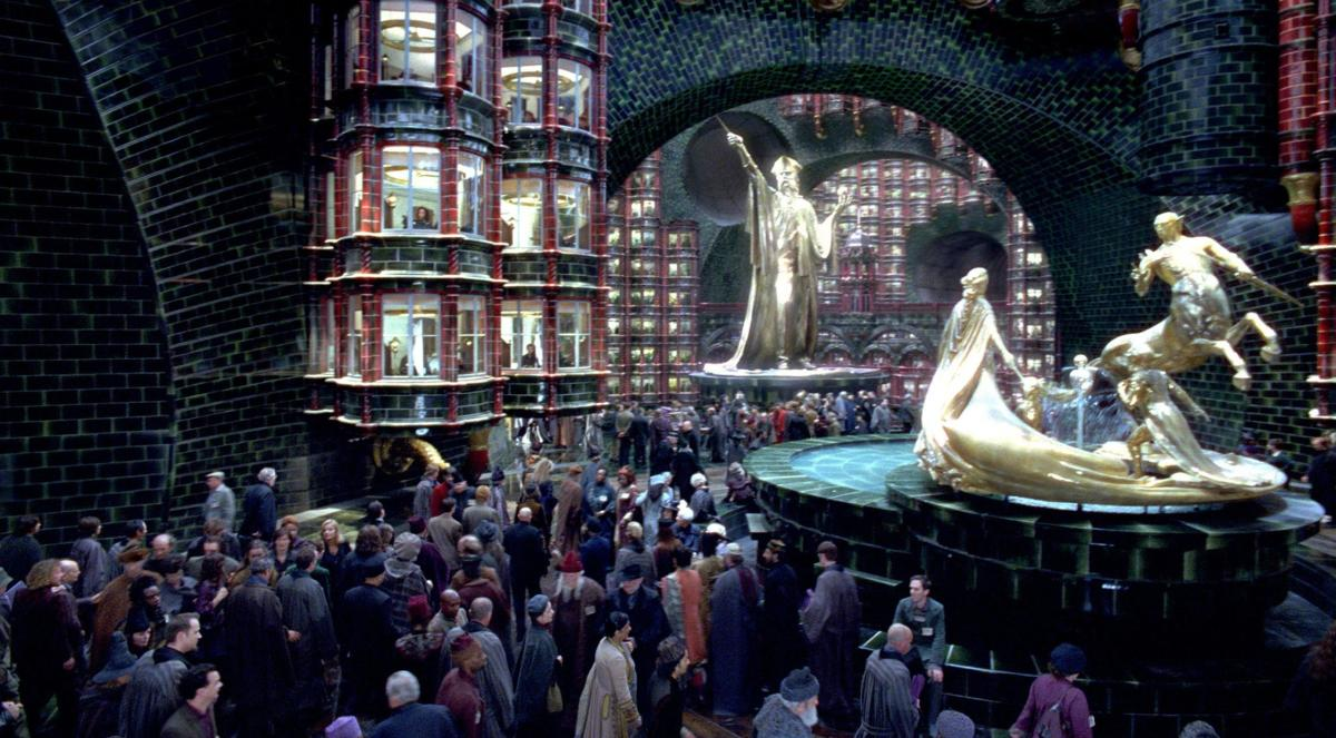 Ministry of Magic, where half the graduates eventually end up