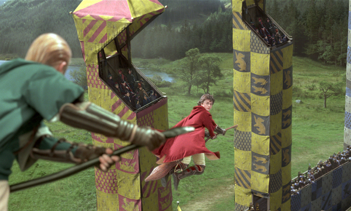 Quidditch game in Harry Potter and the Chamber of Secrets