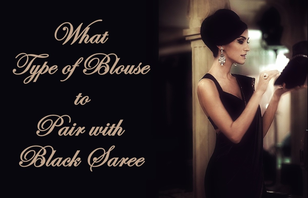 What Type of Blouse to Pair with Black Saree