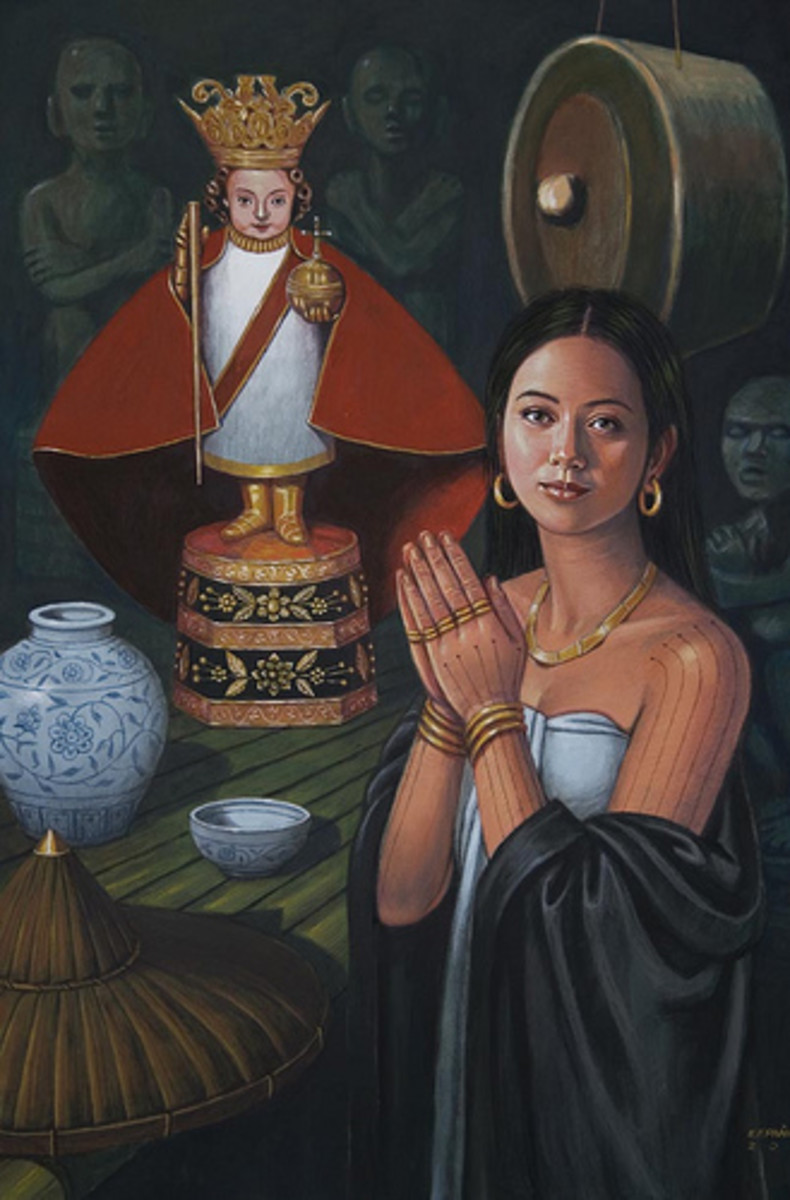 painting of Queen Juana by artist Manuel Panares