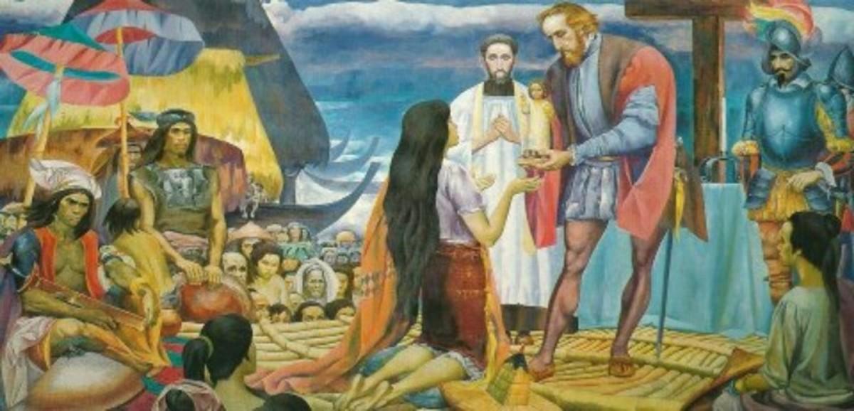 "The Baptism of the Cebuanos by Carlos ""Botong"" Francisco"