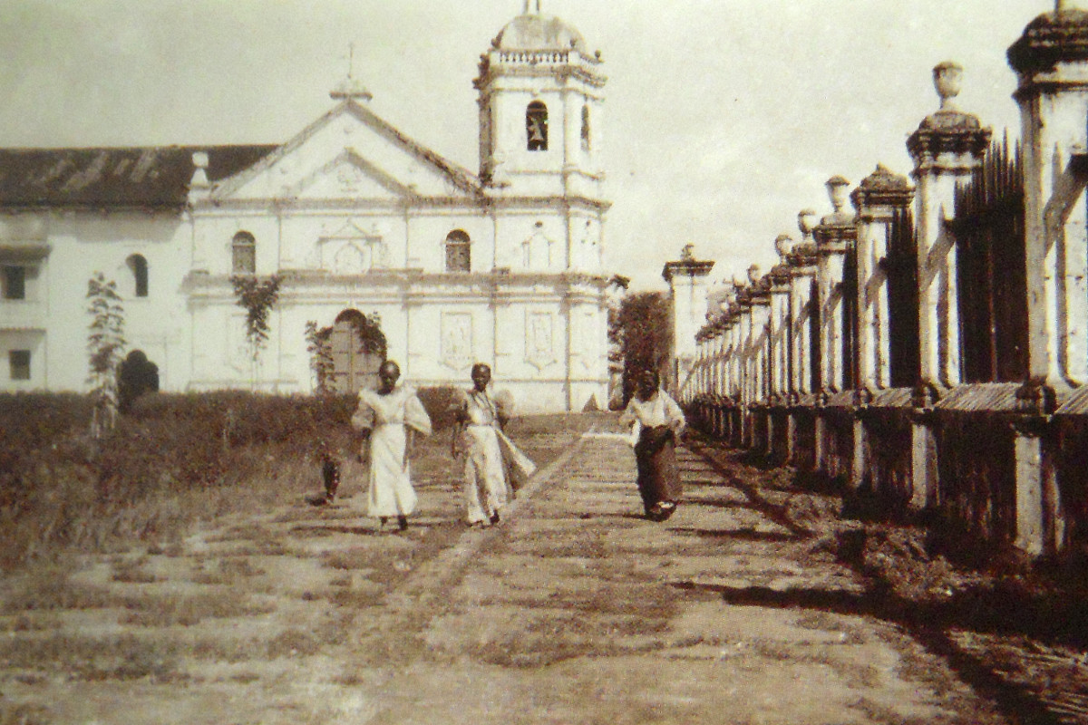 the Santo Nino Church in the 1800's