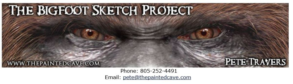 While searching for images of Sasquatch, I came across the artist Pete Travers website The Painted Cave. For Sasquatch enthusiasts, this site is a treasure trove.