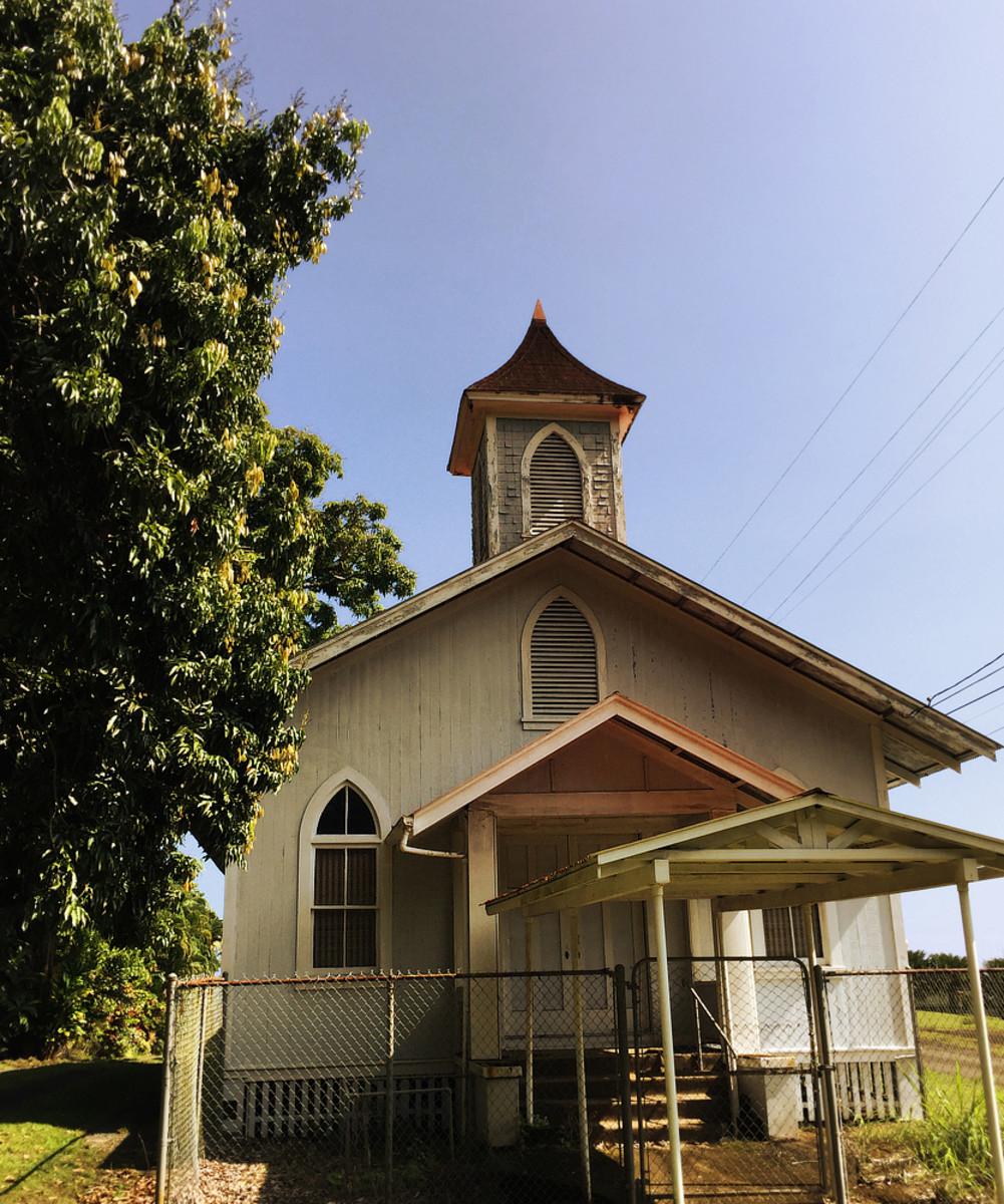 Old church in Papa'ikou village.