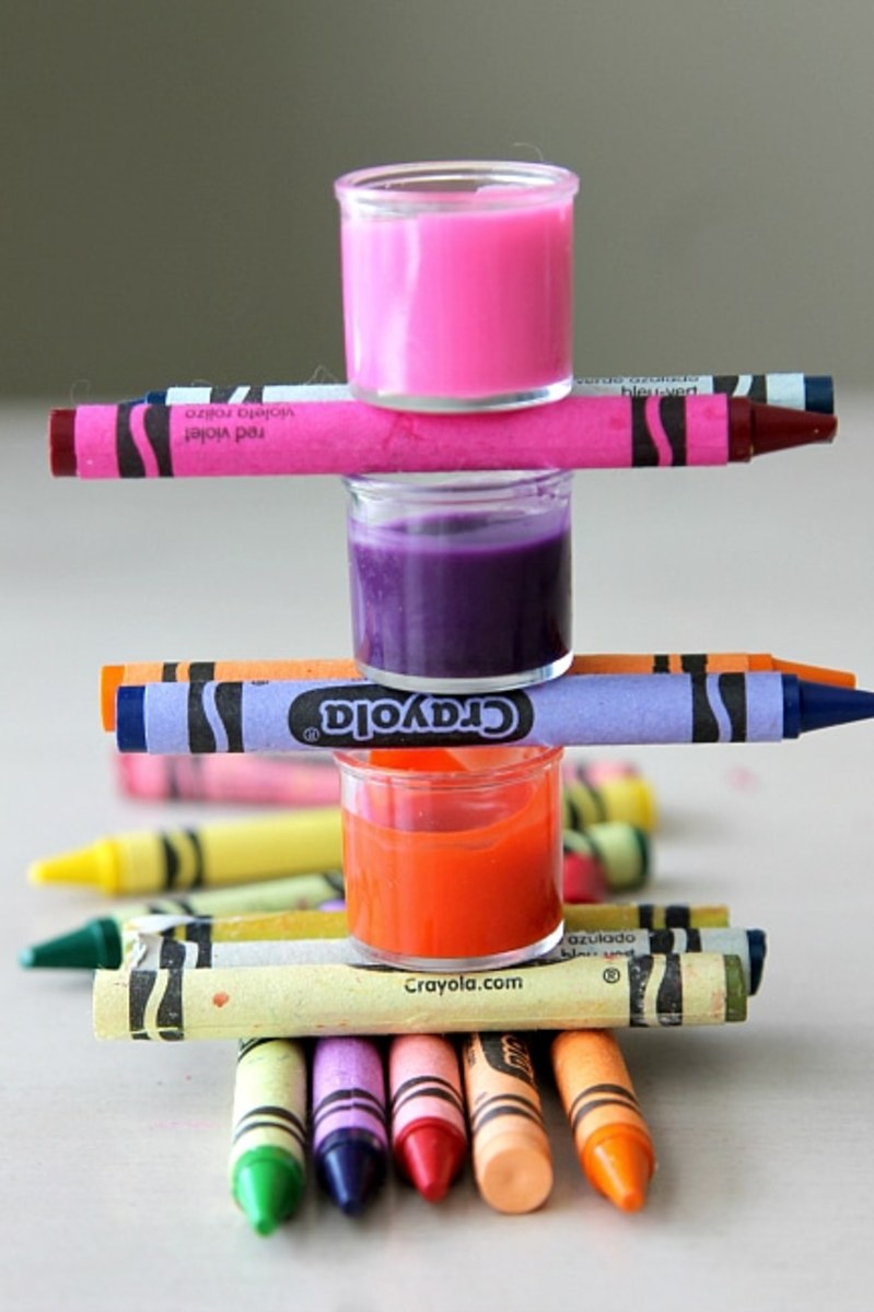 We made something from crayons we could use every day.