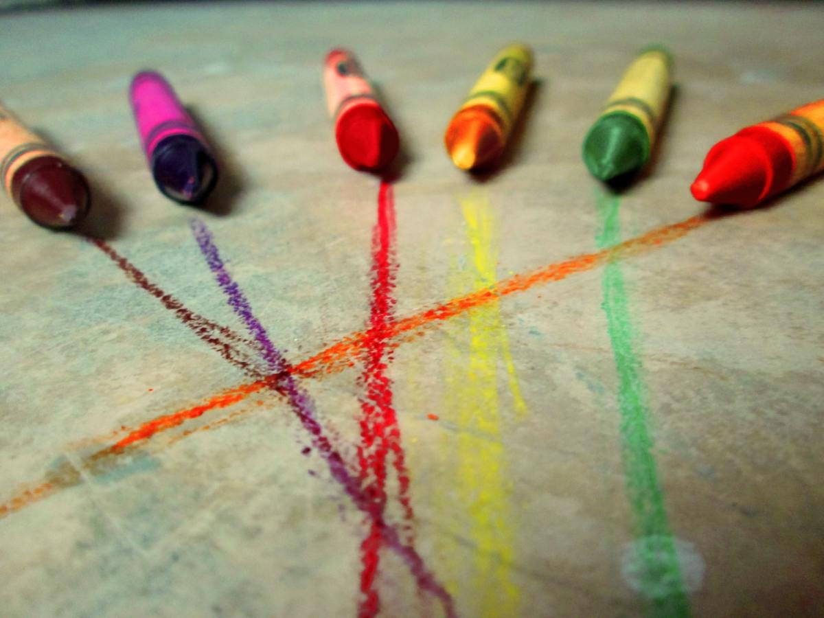 Crayons are alive with colors with so much potential.