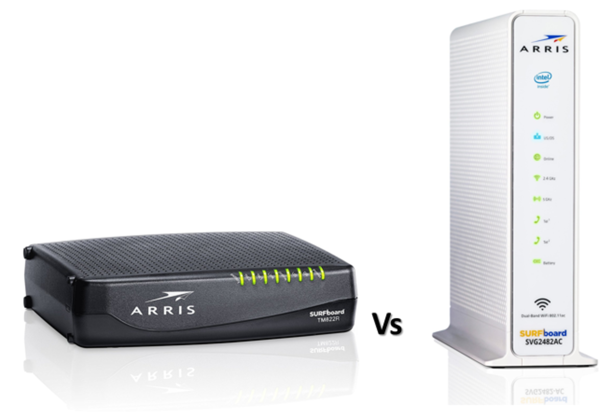 ARRIS SURFboard TM822 vs SVG2482AC
