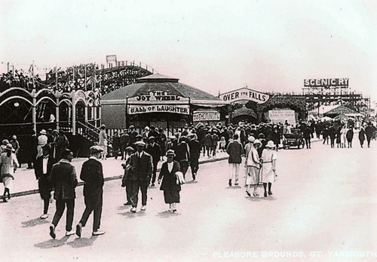 This is a photo of the fun fair in 1924.