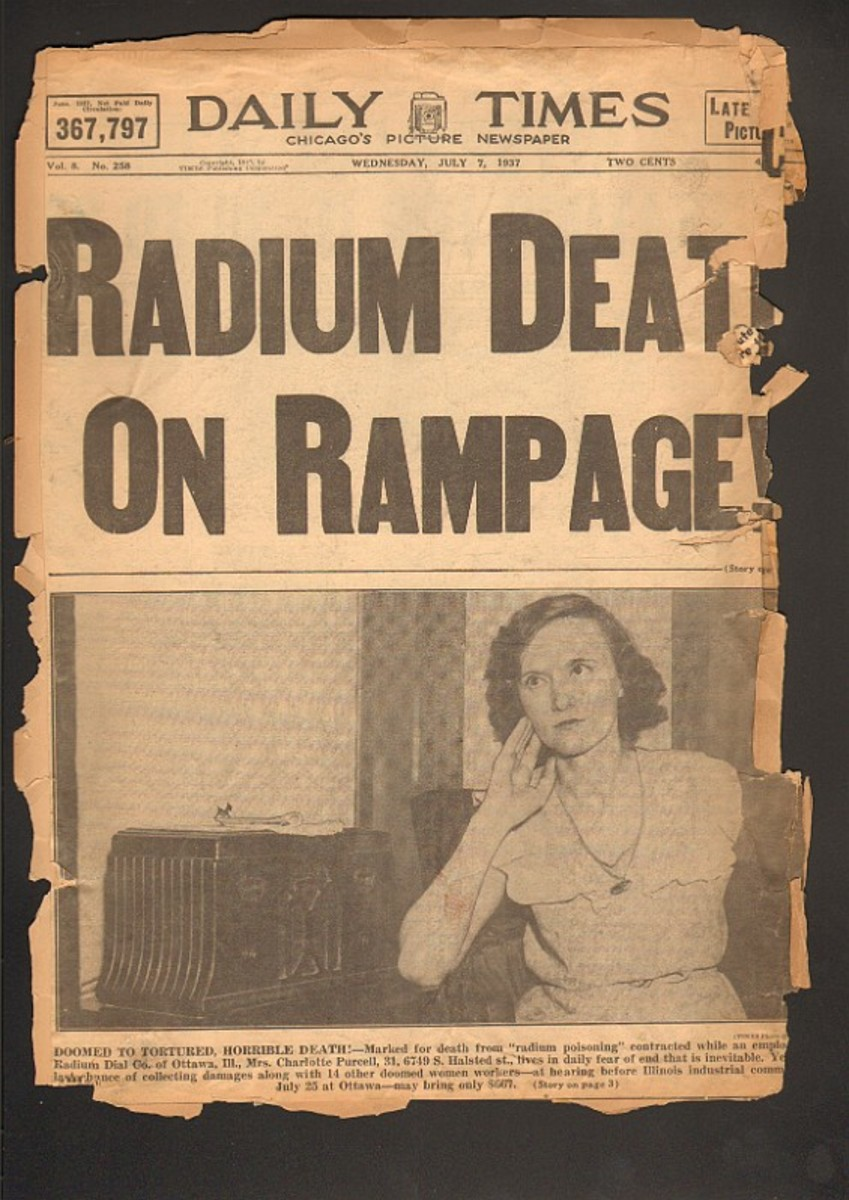 The Radium Girls made front page news across the country.