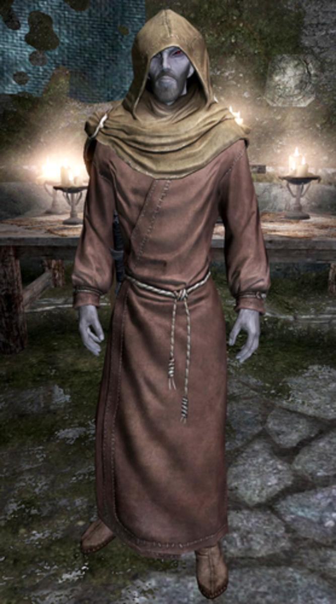 Erandur, a Dark Elf, ex-cult member and current priest of Mara.