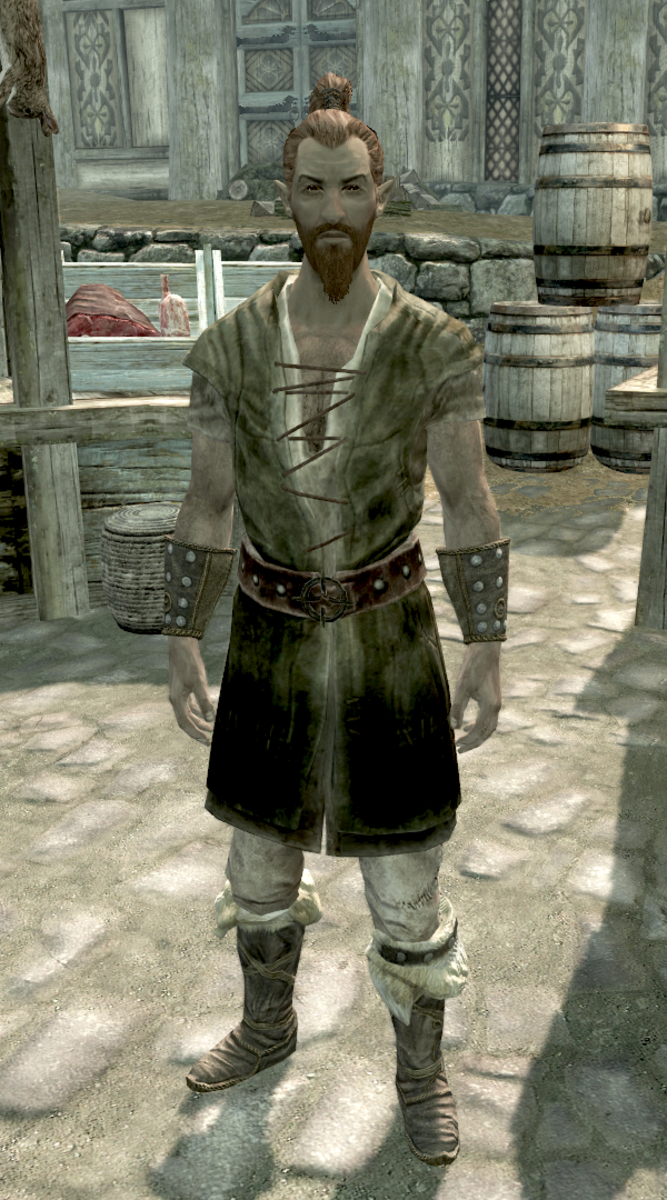 Anoriath, a Wood Elf who is a hunter that resides in Whiterun.
