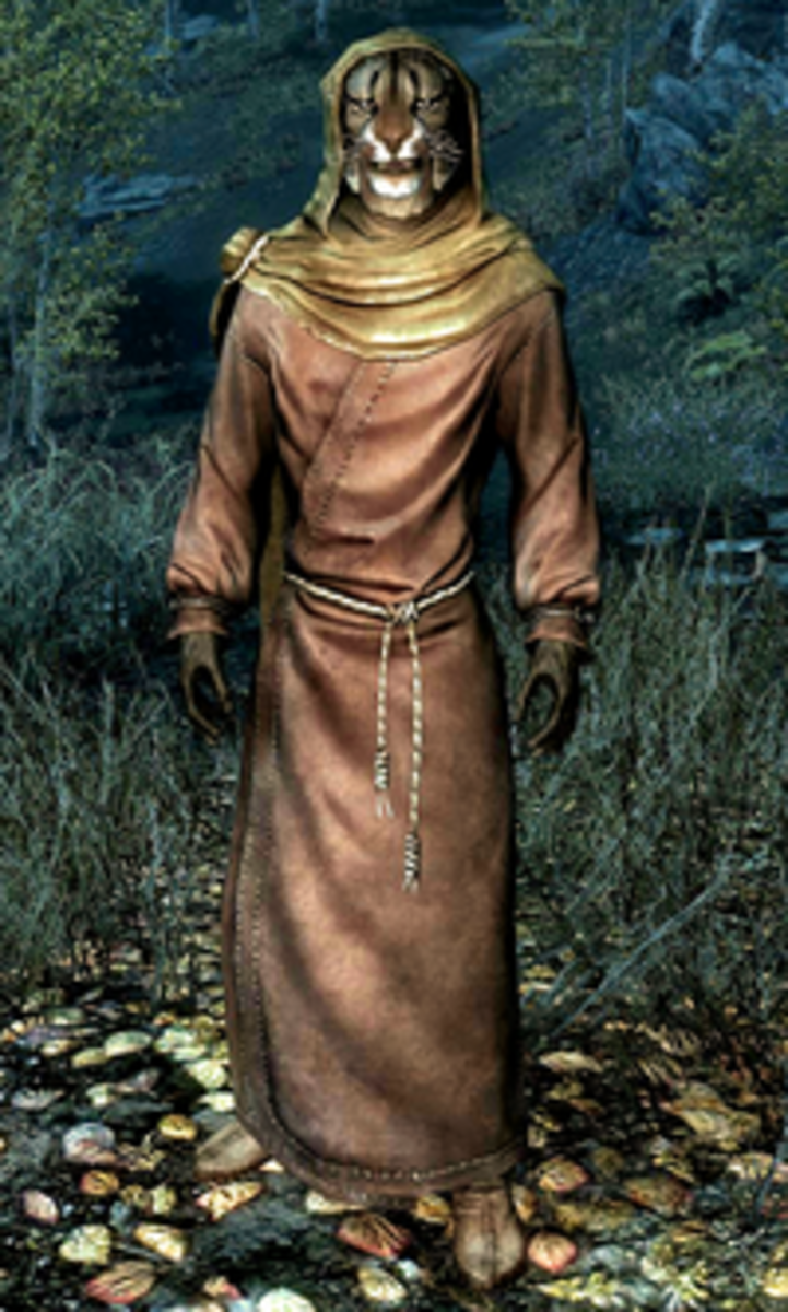 M'aiq the Liar, a Khajiit who is a constant character in the Elder Scrolls series.