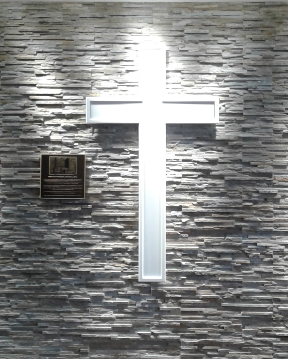 White Cross inside today's Riverside lobby.