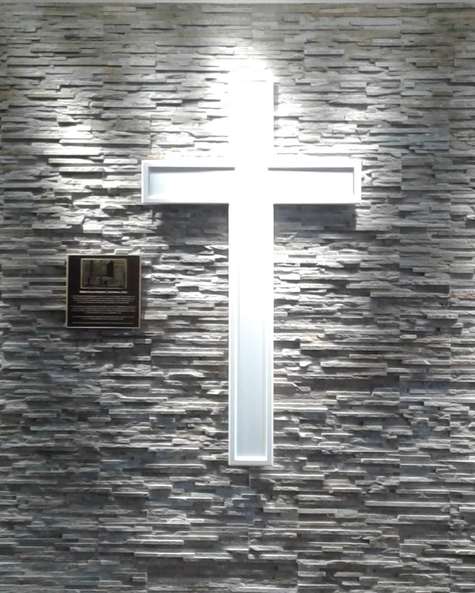 White Cross inside today's Riverside lobby.