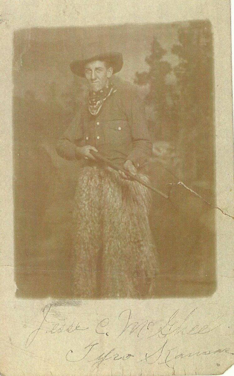 """I can tell from comparing this to another photo in our family album that the """"cowboy"""" here is indeed Jesse McGhee. I've included that photo for you to see for yourself."""
