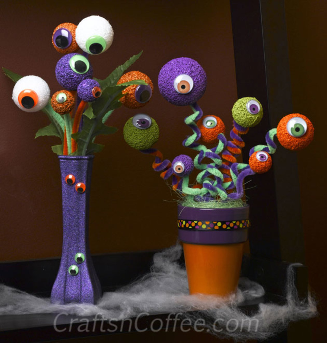 Eyeball crafts are fun to make and a great way to decorate your home for Halloween