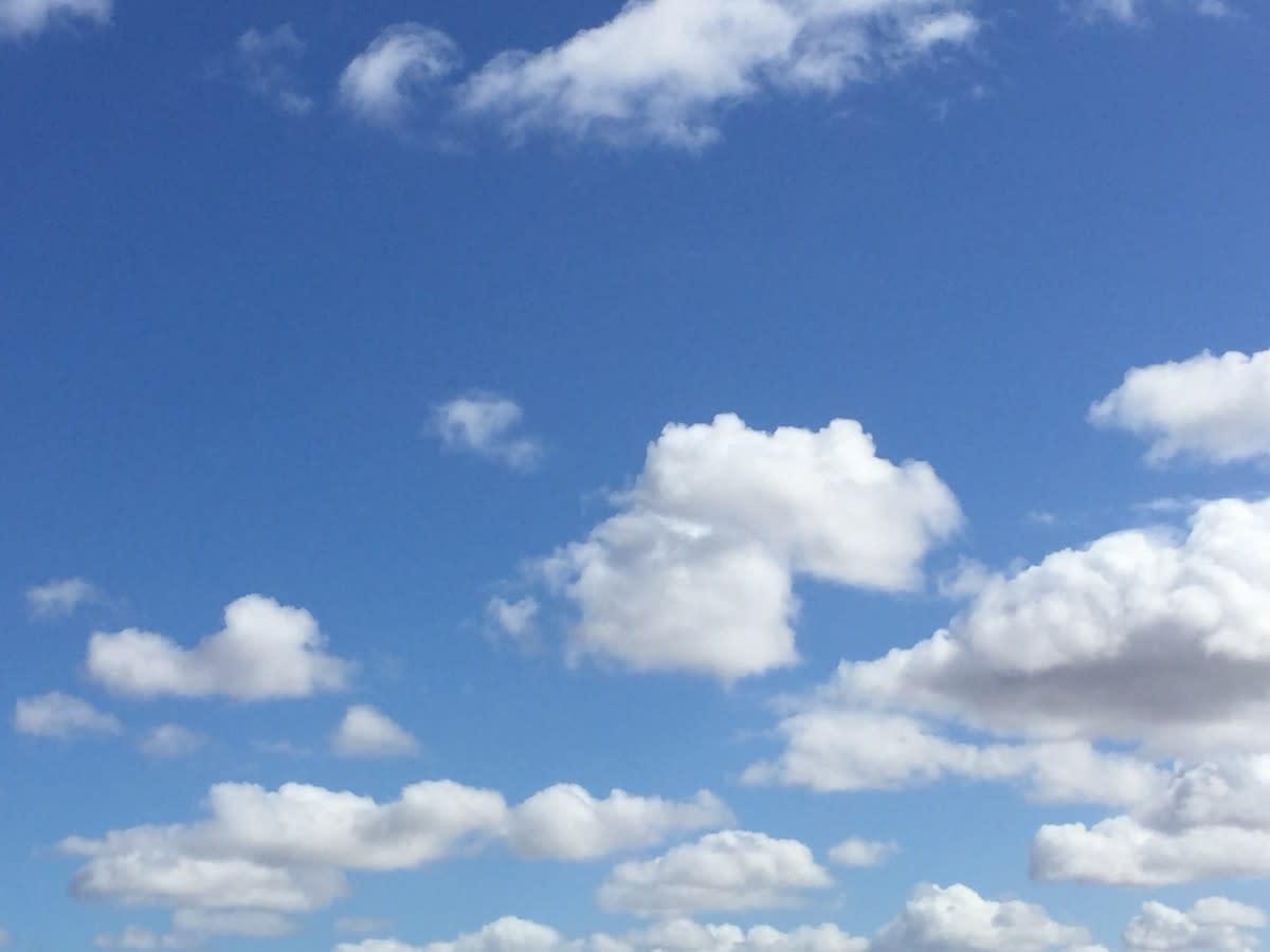 Fluffy White Cumulus Cloud