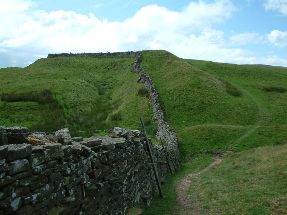 Tor Dyke, leading upward to Great Whernside to the south of Coverdale