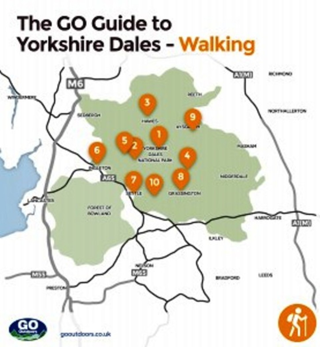 A handy guide to keep in your backpack for those uncertain moments when you need to make choices - refer to the web site for a key to the walk numbers