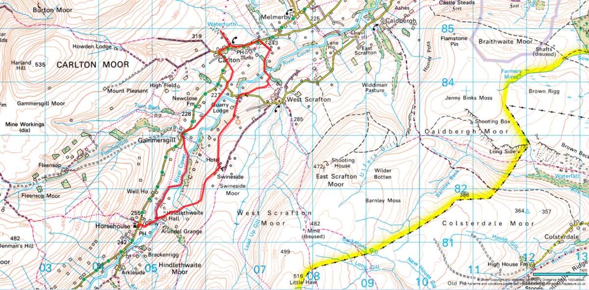 Carlton-in-Coverdale to Horsehouse, walk or drive, be careful either way. The road is undulating and sometimes narrow. Stop at passing places on your side of the road if you see oncoming vehicles