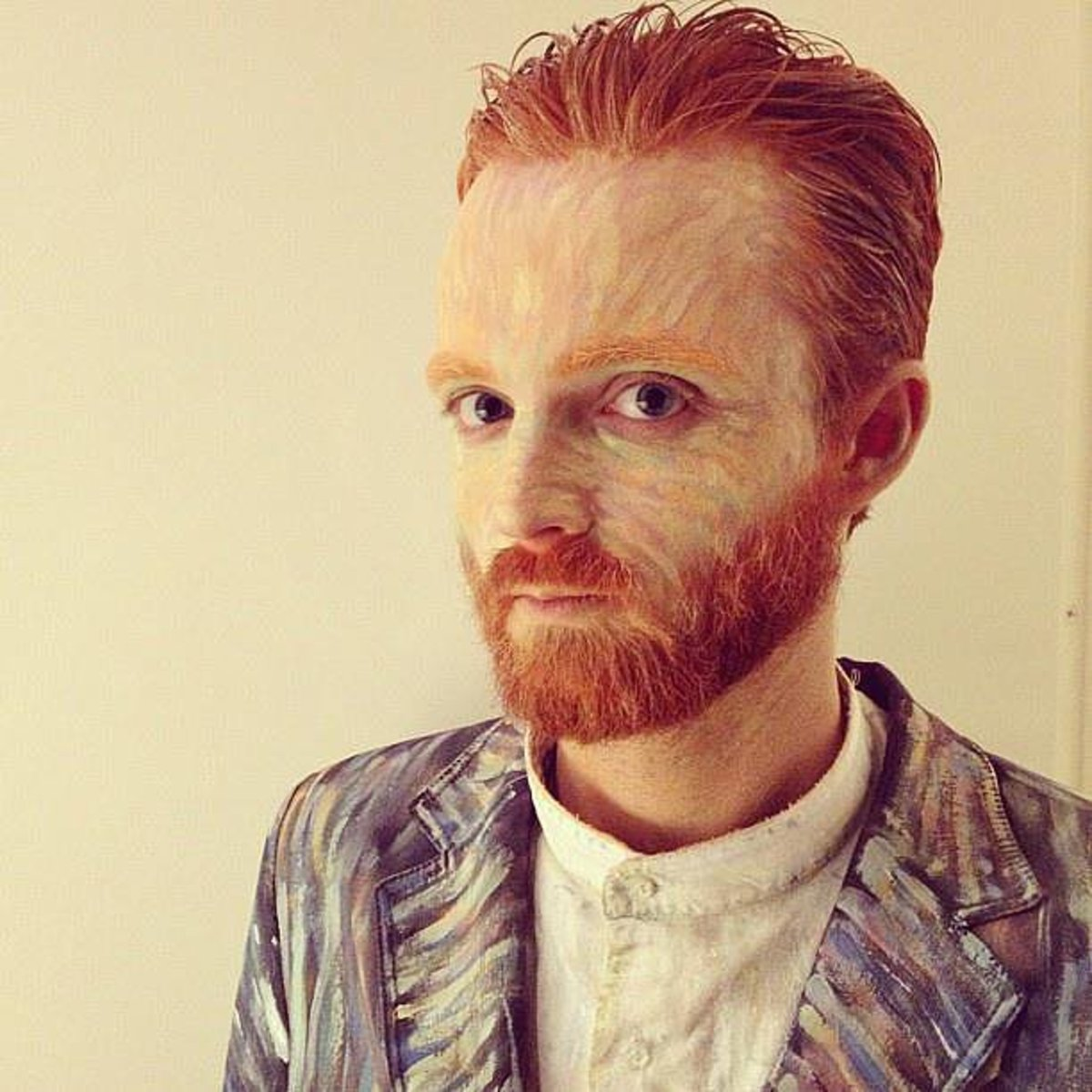 Go dressed up as the artist, Vincent van Gogh